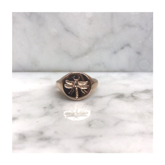 Dragon Fly Signet Ring