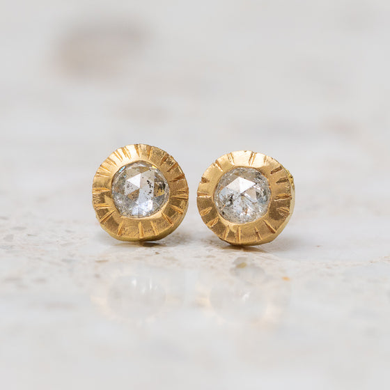 Salt & Pepper Diamond Forest Studs