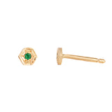 Emerald hexagon stud
