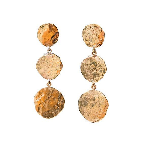 Hammered Roman Disc Earrings