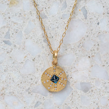 Teal Sapphire Sun Ray Necklace