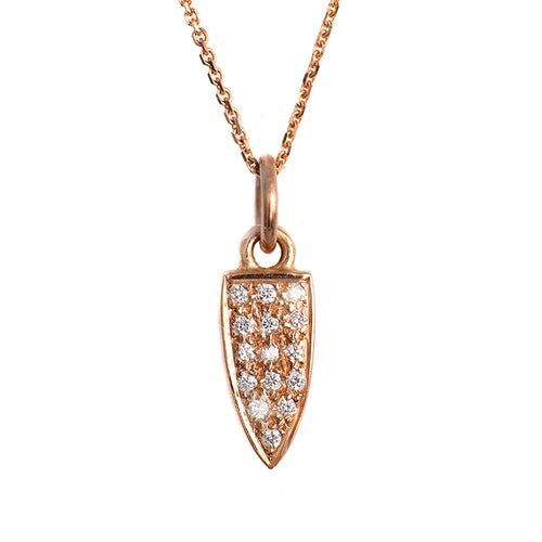 Diamond Set Arrowhead Necklace