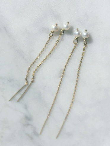 Pearl Thread Earrings