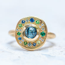 Teal Sapphire Pebble Ring