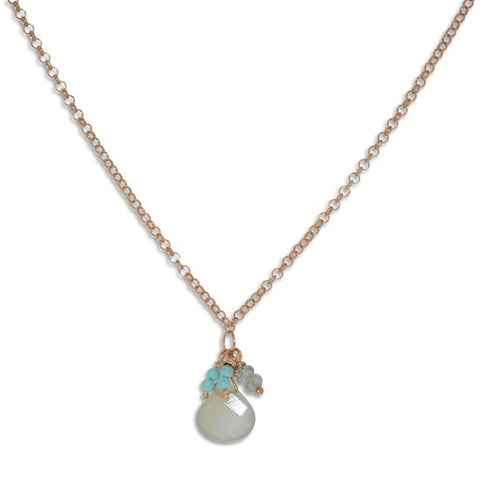 Tutti Fruitti Necklace- Rose gold plate