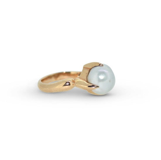 Baroque South sea pearl cocktail ring