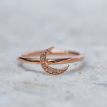 Crescent Moon Stacking Ring