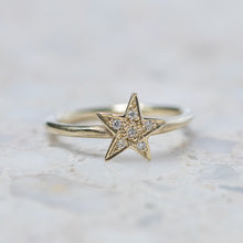Diamond Star Stacking Ring
