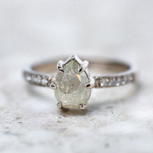 Salt & Pepper Diamond Elizabeth Ring