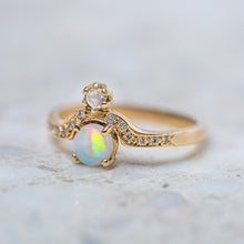 Opal And Moonstone Adina Ring