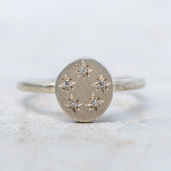 Open Starburst Pebble Ring