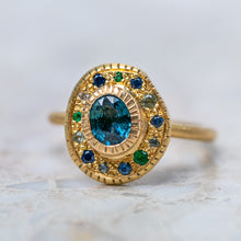 Shades Of Blue Pompeii Sapphire Ring