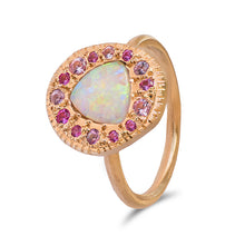 Opal in Pink Pebble Ring