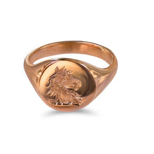 Horse Head Signet Ring