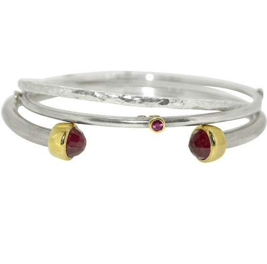 Ruby studded bangle