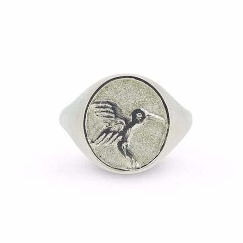 Hummingbird Signet Ring