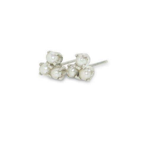 Triple Stud with Pearls