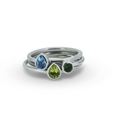 Stacker ring- Sapphire