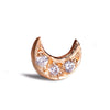 Diamond Mini Moon Stud