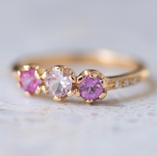 Shades Of Pink Sapphire Juliet Ring