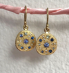 Shades of Blue Sapphire Constellation Pebble Earrings