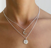 Mini Moon Diamond Necklace