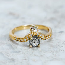 Salt And Pepper Diamond Adina Ring