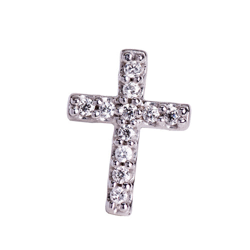 Mini diamond cross stud