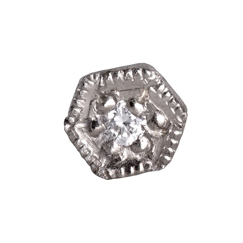 Diamond hexagon stud