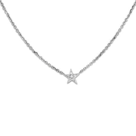 Star necklace pave set with diamonds