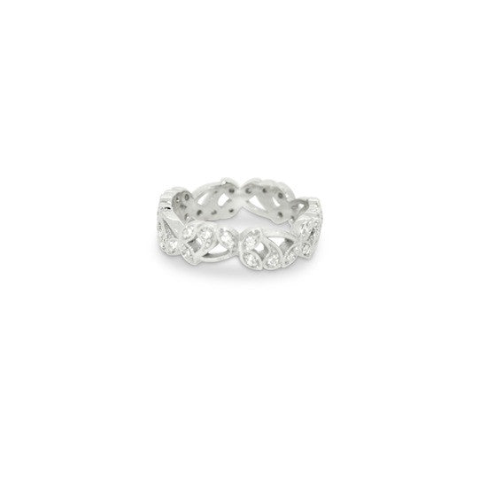 White Gold Diamond Vine Band