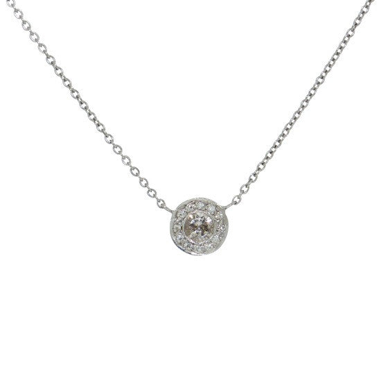 Grey Diamond Disc Necklace