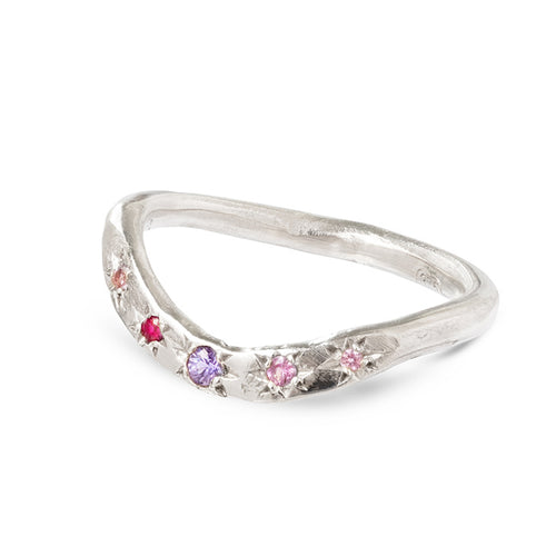 Shades of pink and purple hidden treasure band