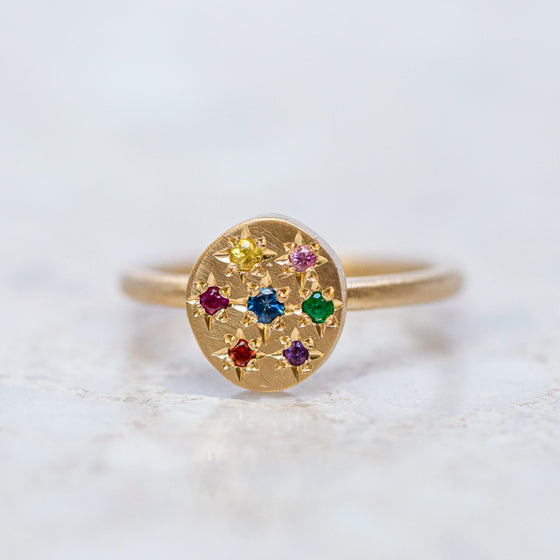 Starburst Pebble Ring