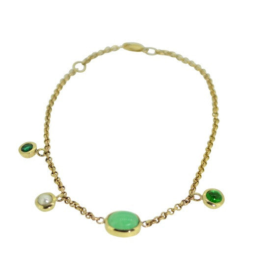 Shades of Green Charm Bracelet