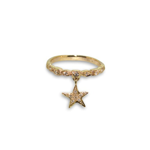 Starry Starry Diamond Charm Ring