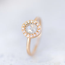 Ice Diamond Halo Pebble Ring
