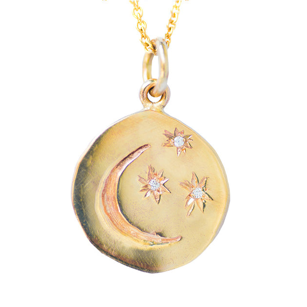 Stars and moon guard necklace