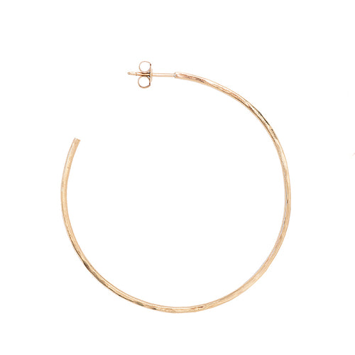 Studio 54 Gold Hammered Hoops