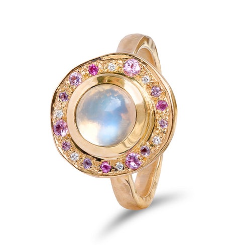 Moonstone Roman Pebble Ring