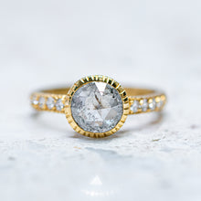 Salt & Pepper Diamond Belle Ring