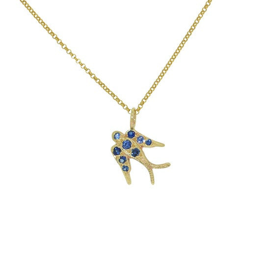 Ceylonese Sapphire Swallow Necklace