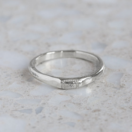 Apollo Ruins Diamond Stacking Ring
