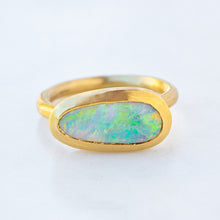 Black Opal Forest Ring