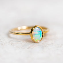 Crystal Opal Stacker Ring
