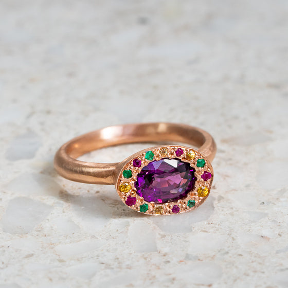 Purple Garnet Eclipse Ring