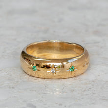 Emerald Star Set Ring