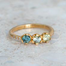 Shades Of Green Sapphire Juliet Ring