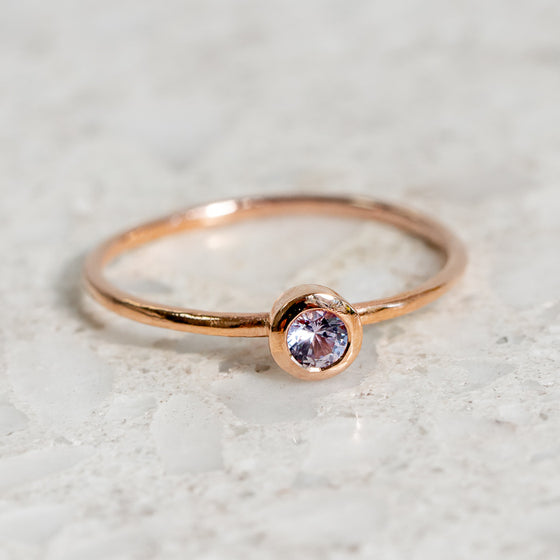Lilac Sapphire Stacker Ring