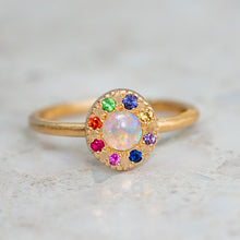 Opal and Sapphire Carnivale Pebble Ring